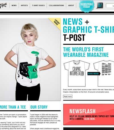 T-post des t-shirts originaux et décalés sur l'actualité !